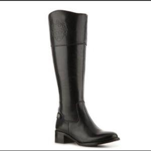 Etienne  Aigner  Wide Shaft Black Boots 9.5M